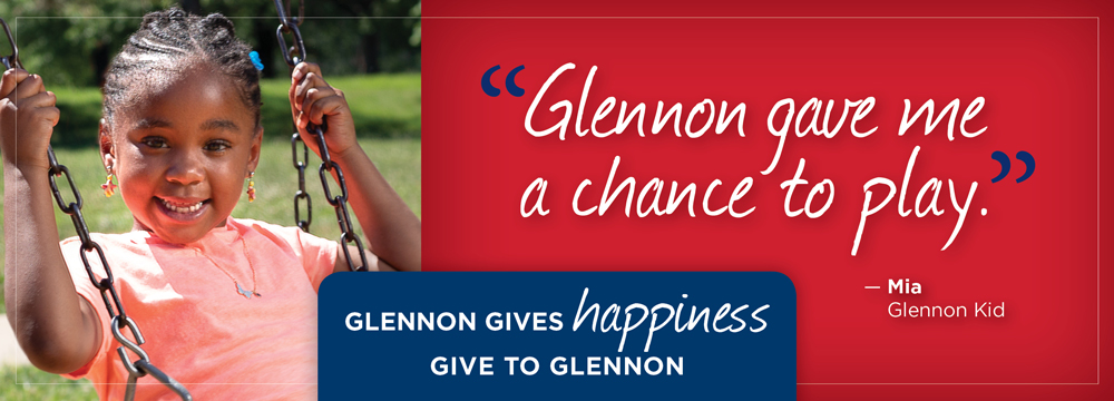 """Glennon gave me a chance to play!"" Mia, Cardinal Glennon kid"