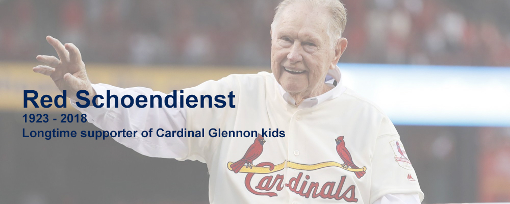 Red Schoendienst St. Louis Cardinals supporting Cardinal Glennon kids