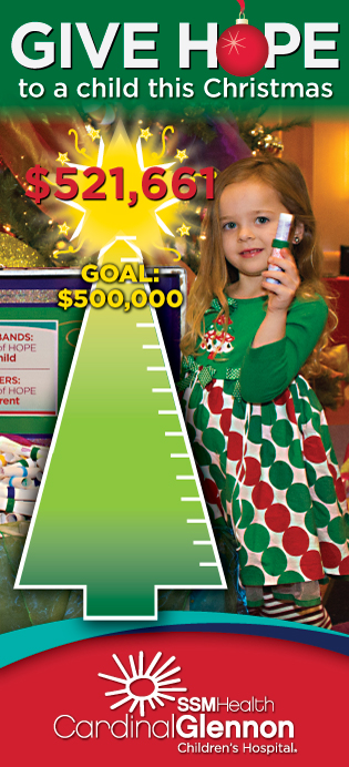 Cardinal Glennon Tree of Hope Thermometer - $521,661